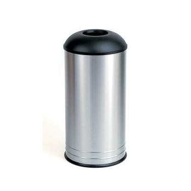 Papelera circular de 68L fabricada en acero inoxidable Bobrick