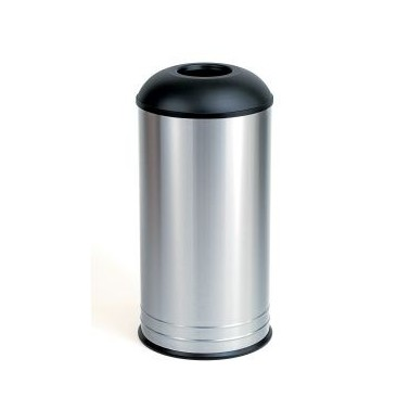 Recipiente de desechos con tapa para colocar en el piso Bobrick