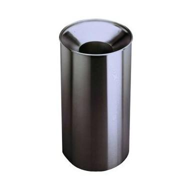 Papelera de gran capacidad fabricada en acero inoxidable satinado Bobrick