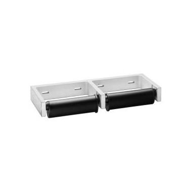 Dispensador de papel higiénico de dos rollos para montar en la pared, serie Clásica Bobrick