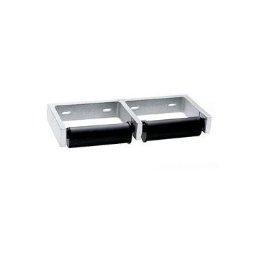 Portarrollos doble fabricado en aluminio acabado satinado Bobrick