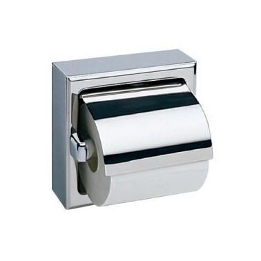 Dispensador de papel higiénico con cubierta protectora para montar en la pared Bobrick