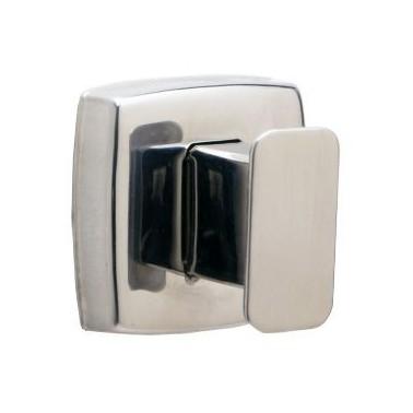 Percha simple fabricada en acero inoxidable acabado brillante Bobrick