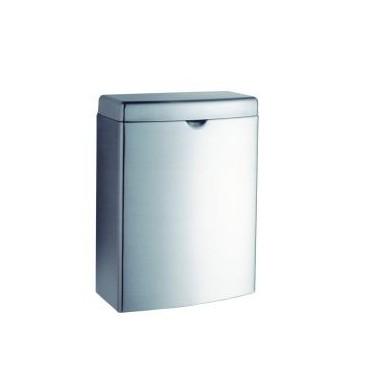 Recipiente para el desecho de toallas sanitarias para montar en la pared. Serie Contura Bobrick