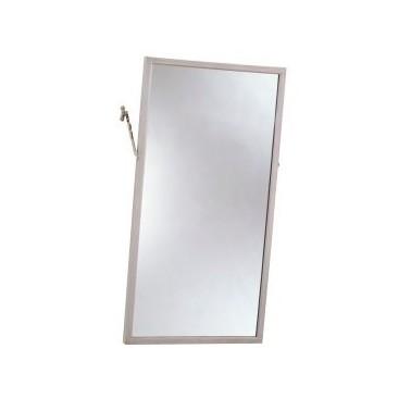 Espejo inclinado con marco de acero inoxidable 41x76cm Bobrick
