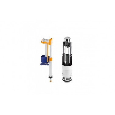 Mecanismo de doble descarga para cisterna baja Nau (3/6L) [A/I] marca Unisan