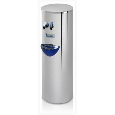 Dispensador de agua redondo con botellón de 18'9L con dos grifos de agua fría y caliente Serie 7 marca Canaletas