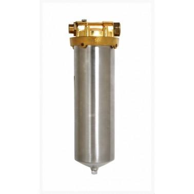 Filtro depurador de acero inoxidable y bronce con una presión máxima de 21Kg marca Canaletas