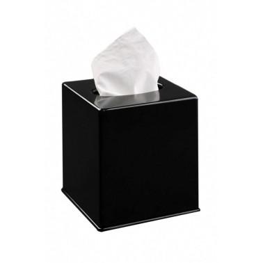 Dispensador de faciales modelo Tissue box acabado negro marca JVD