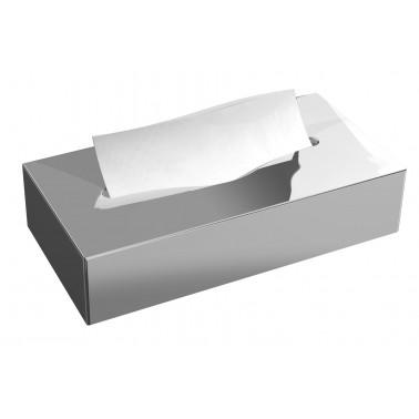 Dispensador de faciales modelo Cleanbox acabado en inox brillo marca JVD