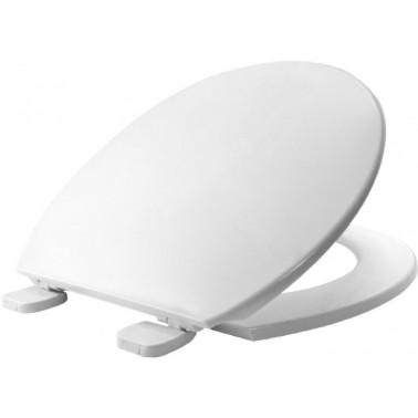 Asiento y tapa para inodoro fabricada en material termoplástico de color blanco BEMIS