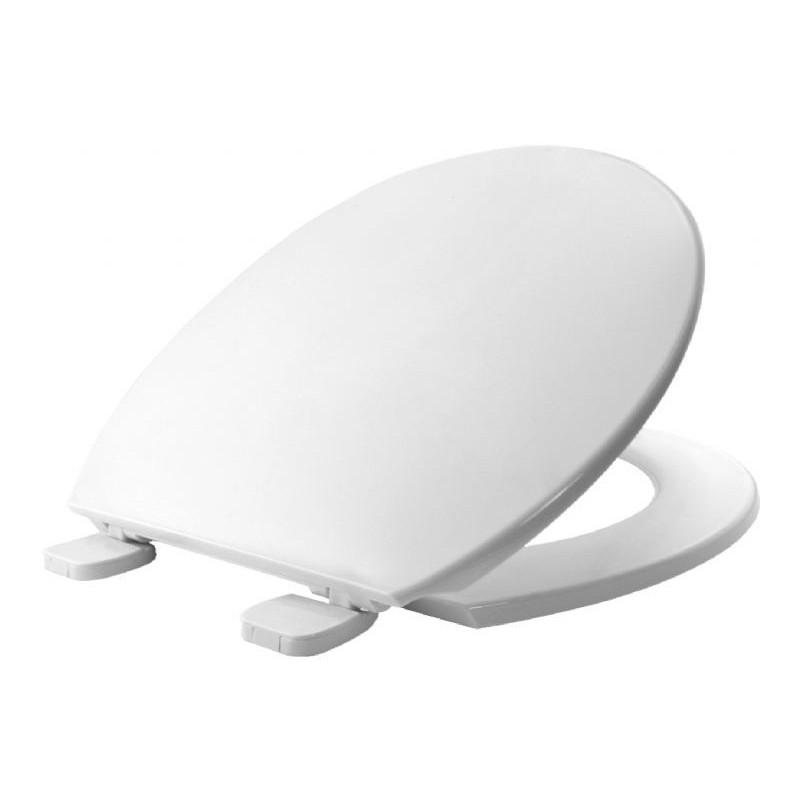 Asiento y tapa para inodoro fabricada en material termoplástico con sistema de fijación BEMIS