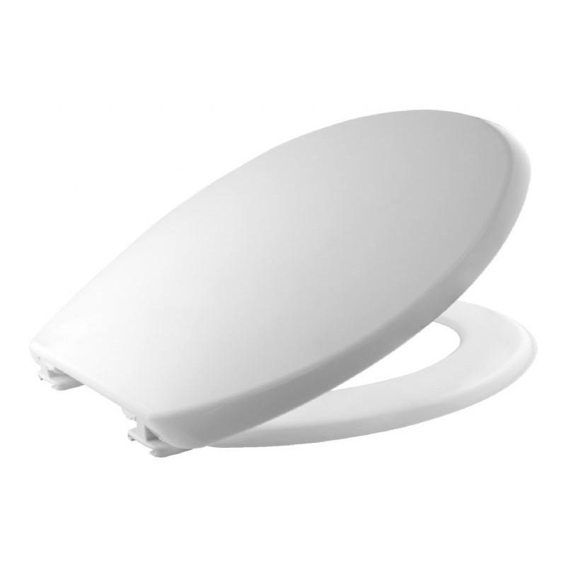 Tapa y asiento para inodoro fabricada en material termoplástico de color blanco BEMIS