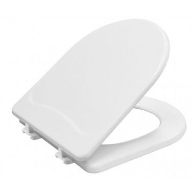 Tapa y asiento para inodoro fabricada en madera prensada y reforzada en color blanco BEMIS