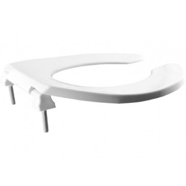 Asiento adaptado, con abertura frontal fabricado en termoplástico Termoplast en color blanco BEMIS