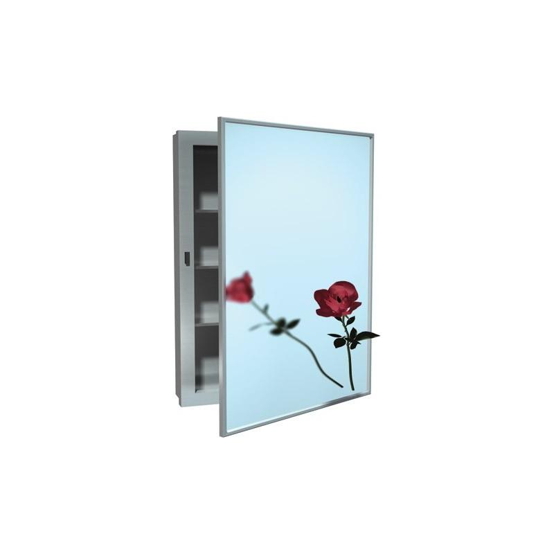 Botiquín con espejo de acero inoxidable marca ASI