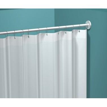 Cortina de ducha de vinilo blanco marca ASI