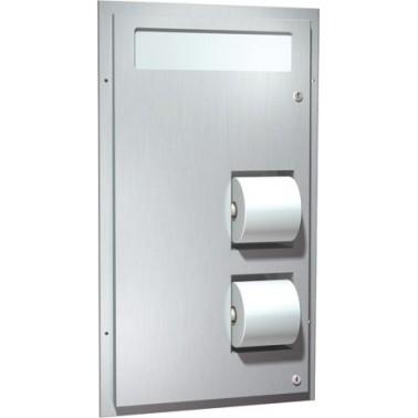 Dispensador dual de papel higiénico y papel especial para inodoro marca ASI