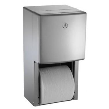 Dispensador de papel higiénico de acero inoxidable marca ASI