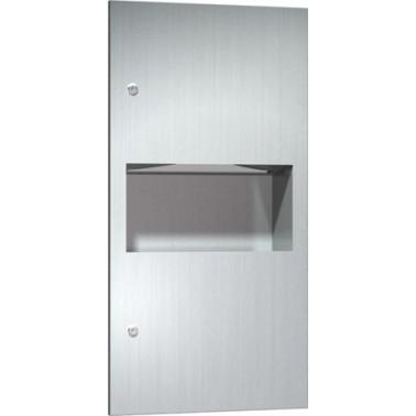 Dispensador de papel con contenedor de residuos de acero inoxidable de 7,6L marca ASI