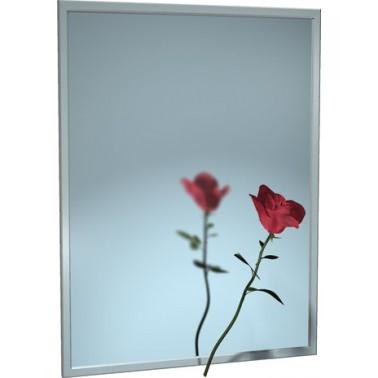 Espejo con marco de acero inoxidable marca ASI