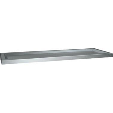 Estantería con bordes elevados de acero inoxidable marca ASI