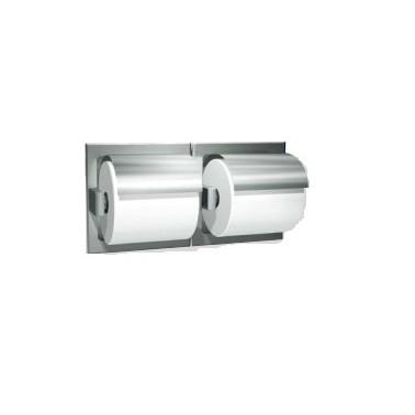 Dispensador de papel higiénico de doble rollo con cubierta marca ASI