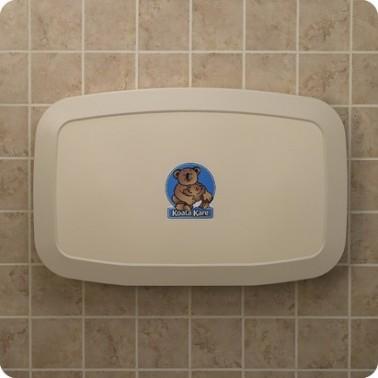 Cambiador de pañales horizontal de pared color crema