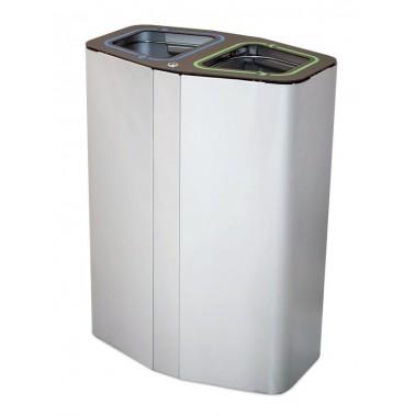 Papelera de reciclaje para dos residuos