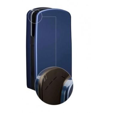 Secador de manos V7 en color azul claro con ranuras de sistema de aire Veltia