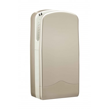 Secador de manos V7 en color Aluminio brillante con sistema de secado de 300 agujeros Veltia