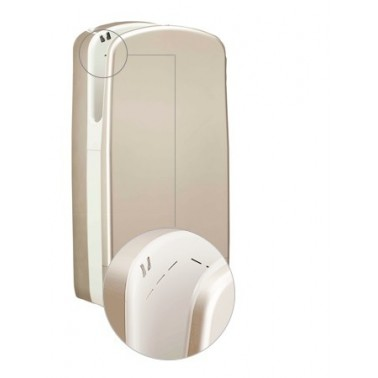Secador de manos V7 en color Aluminio brillante con ranuras de sistema de aire Veltia