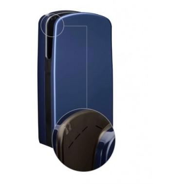 Secador de manos V7 en color azul oscuro con ranuras de sistema de aire Veltia
