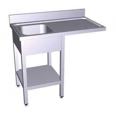 Fregadero para lavavasos y lavaplatos con escurridor derecho de 1200x600 mm Fricosmos