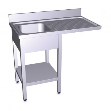 Fregadero para lavavasos y lavaplatos con escurridor derecho de 1200x700 mm Fricosmos