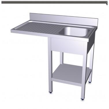 Fregadero para lavavasos y lavaplatos con escurridor izquierdo de 1200x600 mm Fricosmos