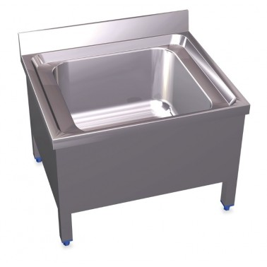 Fregadero vertedero fabricado en acero inoxidable de 700x600x550 mm Fricosmos