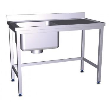 Fregadero especial para escayolas con fregadero izquierdo de 1200x600x850 mm Fricosmos