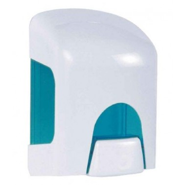 Dispensador de jabón líquido de ABS blanco y azul translucido