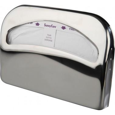 Dispensador de aros higiénicos fabricado en acero inoxidable acabado brillo NOFER
