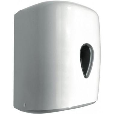Dispensador de papel toalla modelo Wick fabricado en plástico ABS acabado blanco NOFER