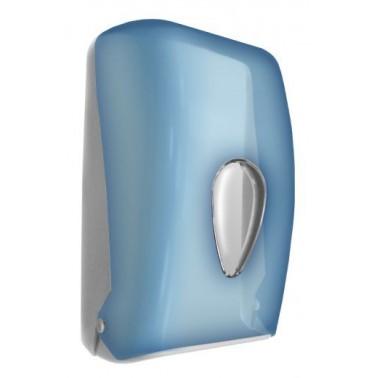 Dispensador de papel bulkpack fabricado en plástico ABS acabado azul transparente NOFER