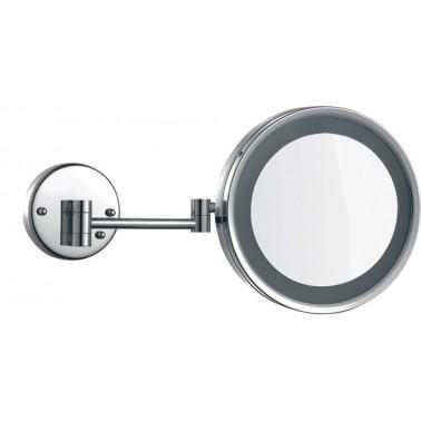 Espejo extensible de aumento x3 fabricado en latón cromado brillo NOFER
