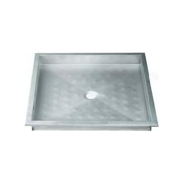 Plato de ducha con desagüe fabricado en acero inoxidable satinado NOFER