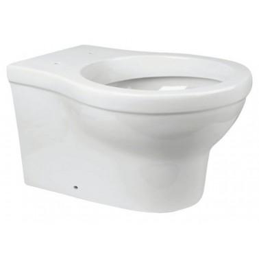 Inodoro ergonómico a suelo con salida horizontal de cerámica blanca NOFER