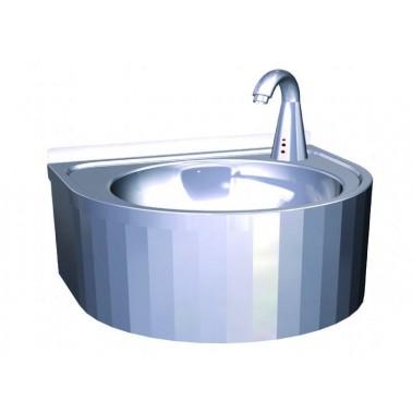 lavamanos mural con grifo automático fabricado en acero inoxidable NOFER