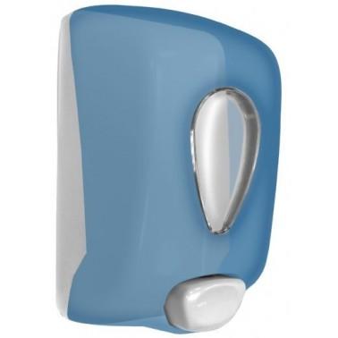 Dosificador de jabón modelo classic fabricado en plástico ABS acabado azul transparente NOFER