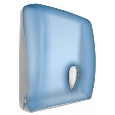 Dispensador de papel toalla modelo Tissue fabricado en plástico ABS acabado azul transparente NOFER
