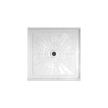 Plato de ducha antideslizante 900x900 mm fabricado en PVC blanco NOFER