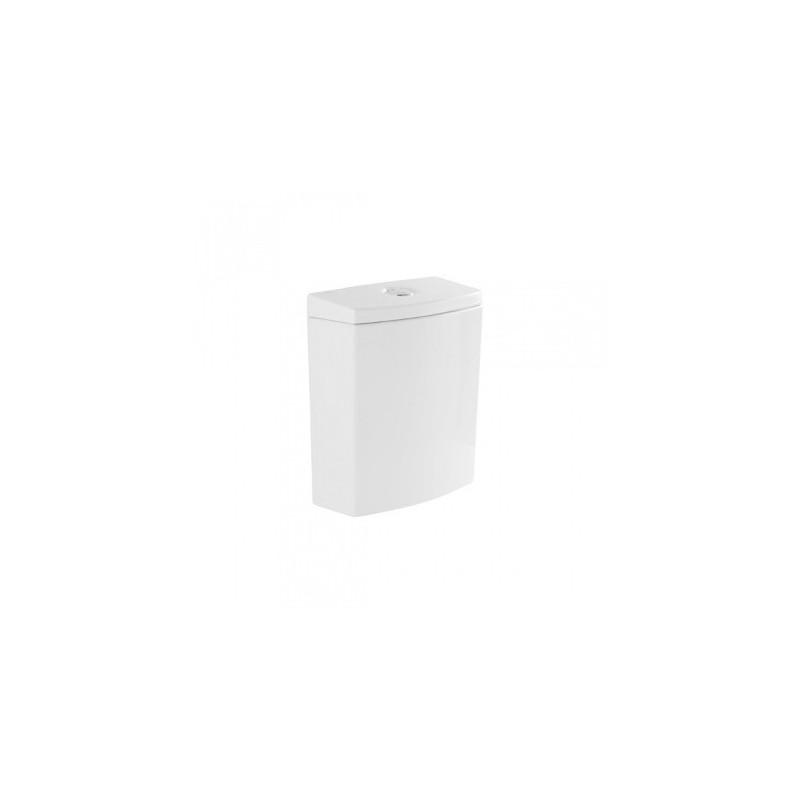 Cisterna baja c/tapa y mecanismo de doble descarga instalado en color pergamon [A/I] urb.y Unisan